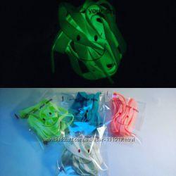 Светящиеся шнурки в пяти цветах
