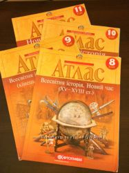 Атлас Всесвітня історія. Новий час. ХV-XVII ст. для 8 класу
