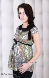 Шелковая блузка для беременных Юла Мама