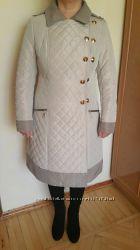Красивое стеганое пальто