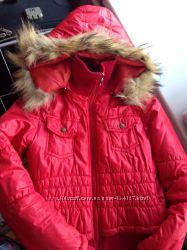Яркая молодежная куртка с натуральным мехом р ХС-С