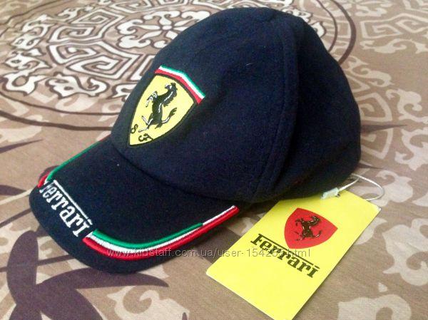 Кепка шерстяная теплая брендовая Ferrari, Armani