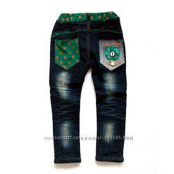 Тёплые джинсы для девочек