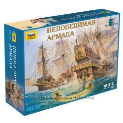Настольная игра НЕПОБЕДИМАЯ АРМАДА с моделями кораблей
