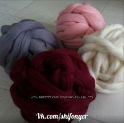 толстая пряжа, 100 шерсть мериноса merino wool