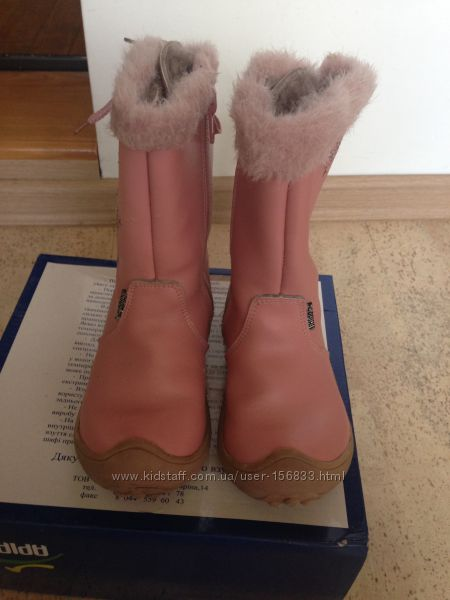 Шкіряні зимові чобітки українського виробника Аріал 26 розмір.