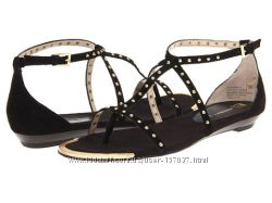 Сандалии босоножки черная замша с клепками бренд Anne Klein из США р. 39