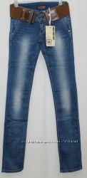 сп качественные джинсы с ремнём на весну р. 25, 26, 27, 28, 29, 30