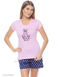Vienetta  Secret пижамка с шортиками в наличии  XL