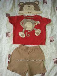 комплект тройка набор George на 6-9 месяцев