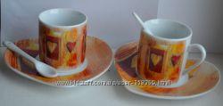 Кофейный набор 6 предметов, Royal Ceramics England, набор кофейных чашек