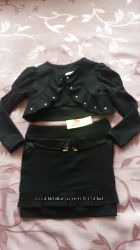 Школьная юбка черная 116-122 6-7 лет
