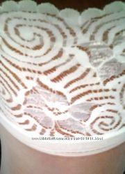 Распродажа - белые чулки на силиконе Наличие