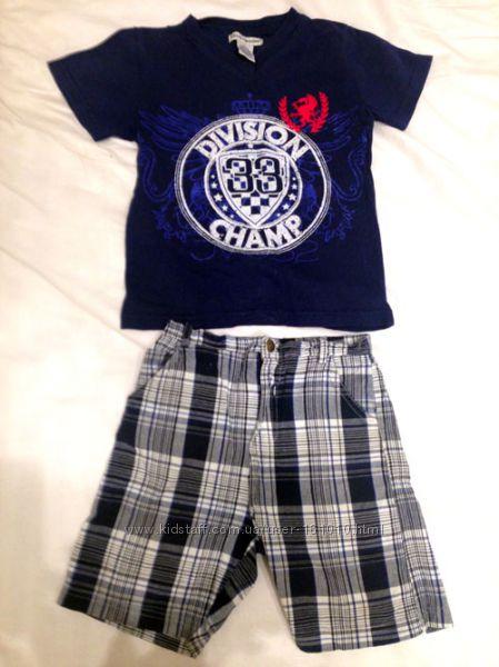 Летний комплект на мальчика- футболка и шорты