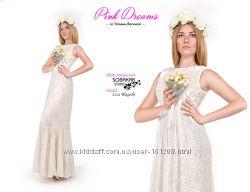 38a37945f54 Выпускное платье из французского батиста с лифом из ткани под мех ...