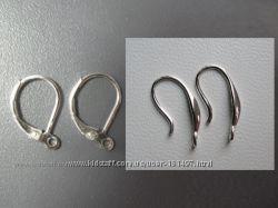 Швензы - крючки для сережек,  с застежкой и без  925 проба серебра