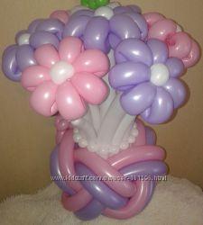 Цветы из шариков. Позняки