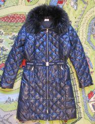 Пальто пуховое GF FERRE оригинал подходит на женский р42 на девочку 13-14ле