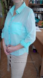 Легкая блузочка мятного цвета