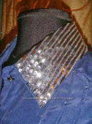 Брендовые женские рубахи DOLCE&GABANNA  и CINEMADONNA в благородном синем