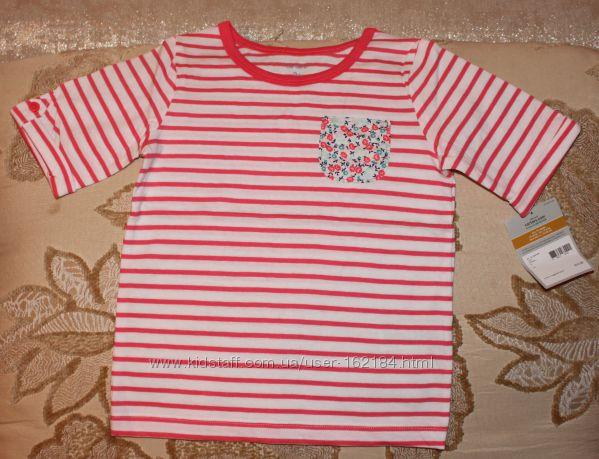 Новые футболки 3-6 лет Carters, США
