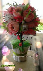 Сладкий топиарий  Летние цветы