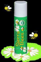 Sierra Bees обычные и тонированные натуральные бальзамы для губ из Америки