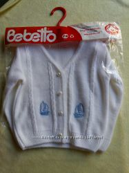 Классная белоснежная кофта Bebetto, р. 74-80