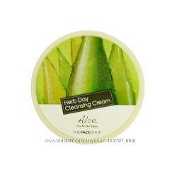 Крем для снятия макияжа с алоэ THE FACE SHOP Herb Day Cleansing Cream Aloe