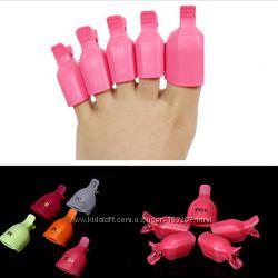 Пластиковые зажимы для снятия гель-лака на ногах