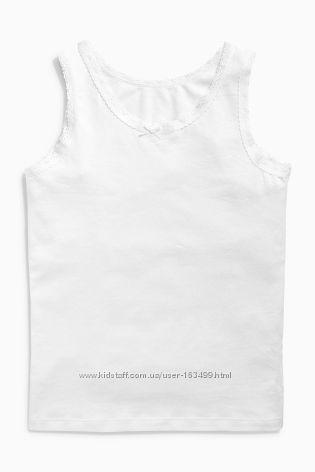 Белые маечки Некст на 1-1, 5 года