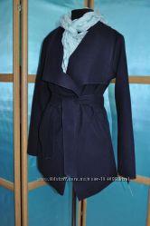 Пальто синее короткое