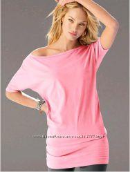 Летня пляжная туника на одно плечо накидка Victorias Secret лиловая М