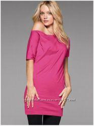 Летня туника на одно плечо Victorias Secret розовая S M хлопок
