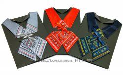 Дизайнерські Крос-галстуки з вишивкою