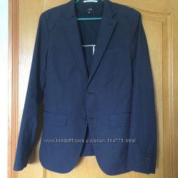 Темно-синий  классический костюм Oodji