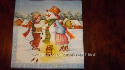 салфетки для декупажа новогодние