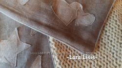Набор декоративных подушек.  Лен,  Вязание