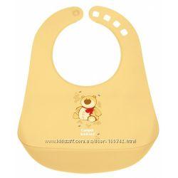 Слюнявчик пластиковый цветной ТМ Canpol Babies