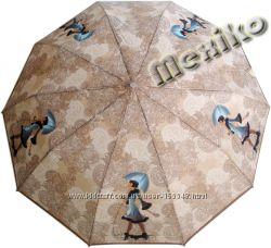 Бесплатная доставка. Зонт ZEST полуавтомат, серия 10 спиц, Девушка с собачкой