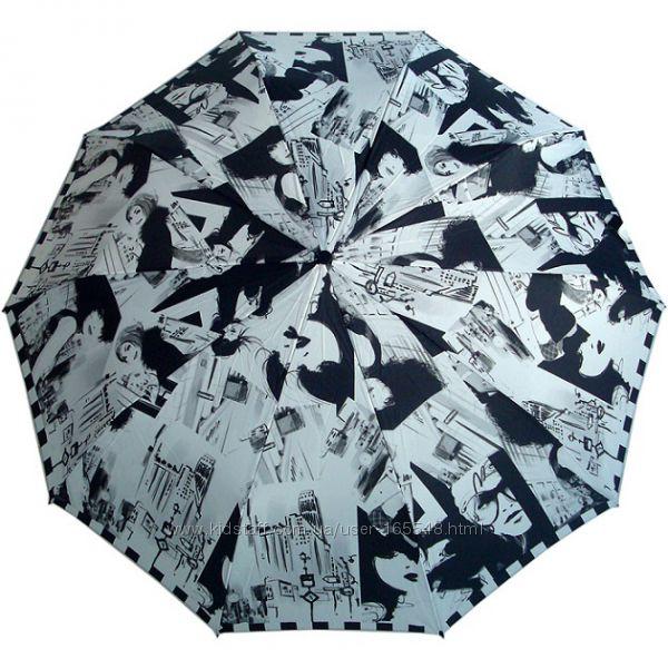 Стильный зонт ZEST полуавтомат, серия 10 сп, Фото стиль