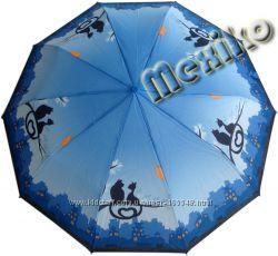 Бесплатная доставка. Модный зонт ZEST, полуавтомат, серия 10 спиц, расц Коты