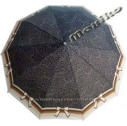 Стильный зонт ZEST, полуавтомат, серия 10 спиц, Бантик