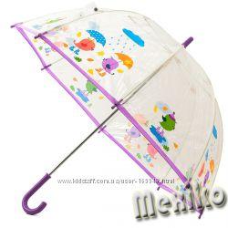 Прозрачный детский зонт Zest, произв. Англия. Расцветка Птички