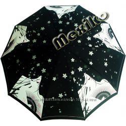 Акция. Бесплатная доставка Модный зонт ZEST полуавт 10 сп, Девушка с веером