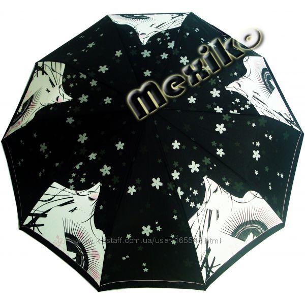 Акция. Модный зонт ZEST полуавт 10 сп, Девушка с веером