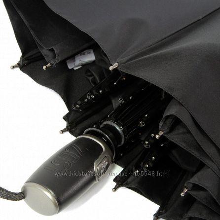 Бесплатная доставка. Стильный мужской зонт ZEST полн авт 13850 ручка кожа