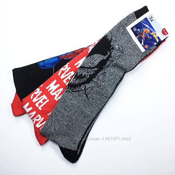 Набор 3 пари гольфы высокие носки Spider Man р.37/39 бренд C&A Германия