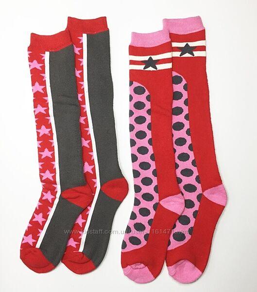 Махровые гольфы высокие носки лыжные детские для девочки р.31-34