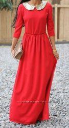Платье в пол  Персик